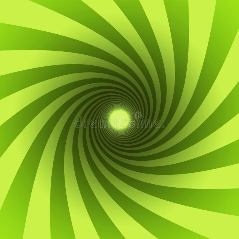 Espiral verde ilustração royalty free