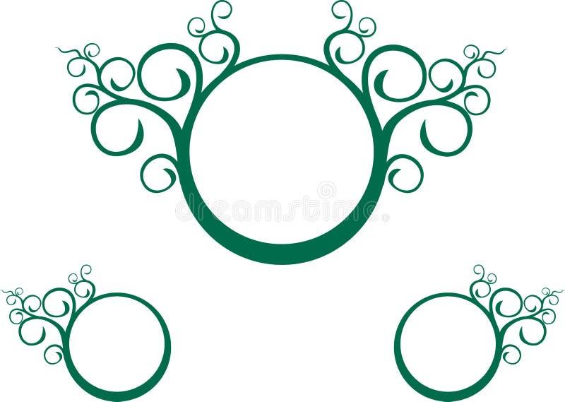 Espiral verde de la vid stock de ilustración