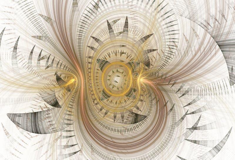 Espirales abstractos del fractal en fondo ligero ilustración del vector