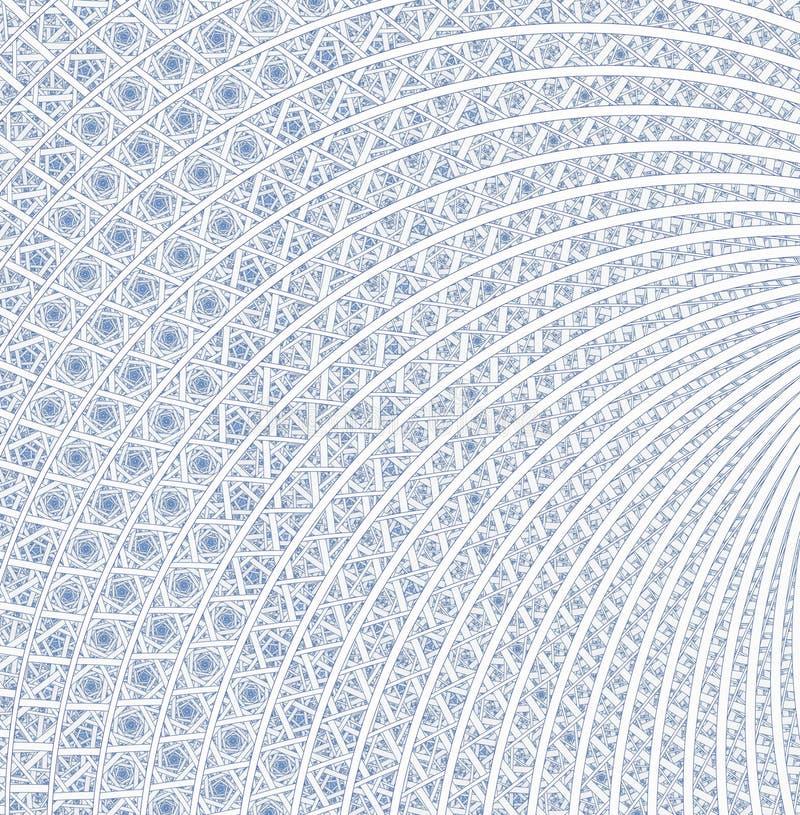 Espirales, anillos y lazos con textura en fondo ilustración del vector