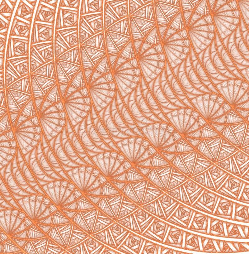 Espirales, anillos y lazos con textura en fondo stock de ilustración