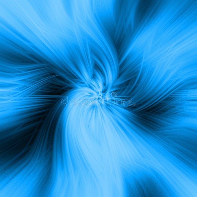 Espirales azules stock de ilustración