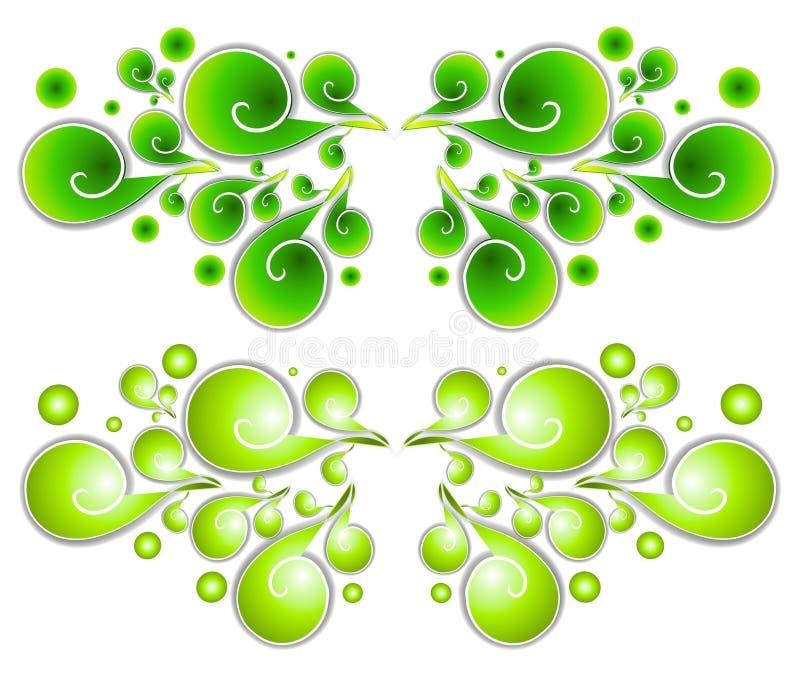 Espirales decorativos 1 de los remolinos ilustración del vector