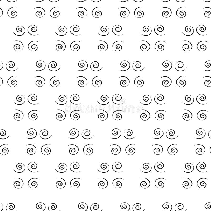 Espirales negros fotografía de archivo libre de regalías