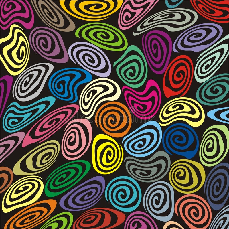 Espirales retros de la suposición y del misshape libre illustration