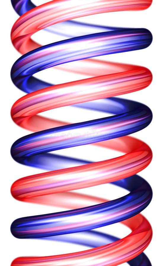 Espirales rojos y azules verticales ilustración del vector