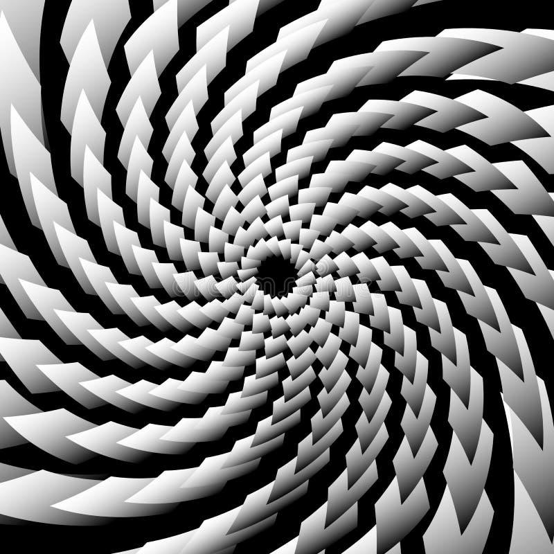 Espiralmente, swirly contexto, teste padrão Illustrat abstrato do Grayscale ilustração royalty free