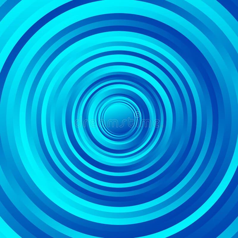 Espiralmente teste padrão colorido do círculo Círculos de giro com inclinação ilustração royalty free
