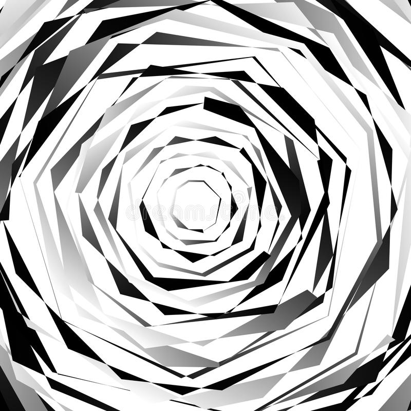 Espiralmente textura nervosa Teste padrão monocromático, geométrico abstrato ilustração stock
