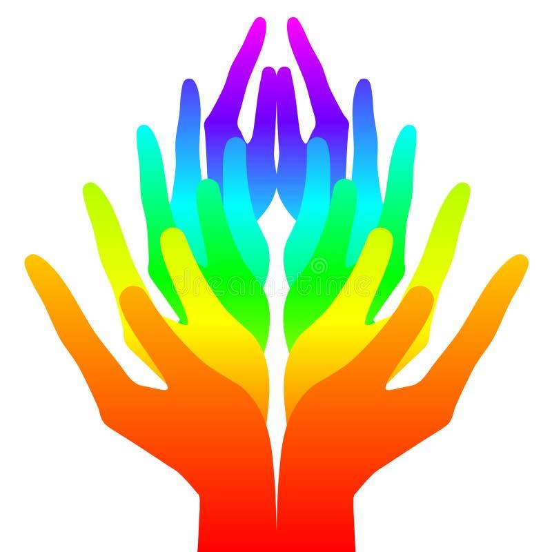 Espiritualidad, paz y amor ilustración del vector
