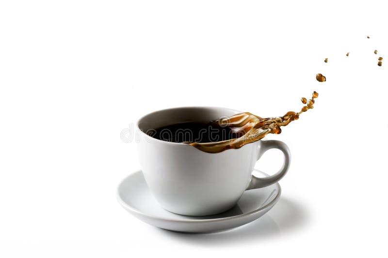 Espirrando a chávena de café fotos de stock