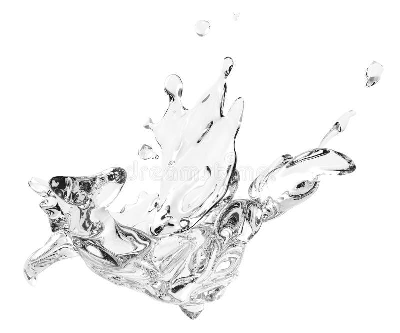 Espirrando o líquido 3d do giro da água renda ilustração royalty free
