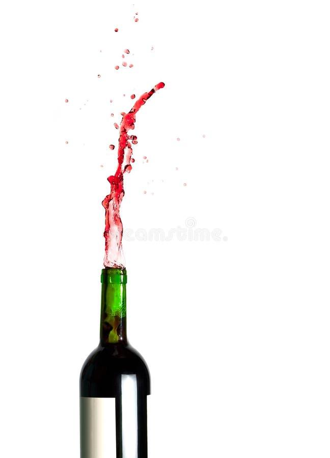 Espirrando o vinho vermelho fotografia de stock royalty free