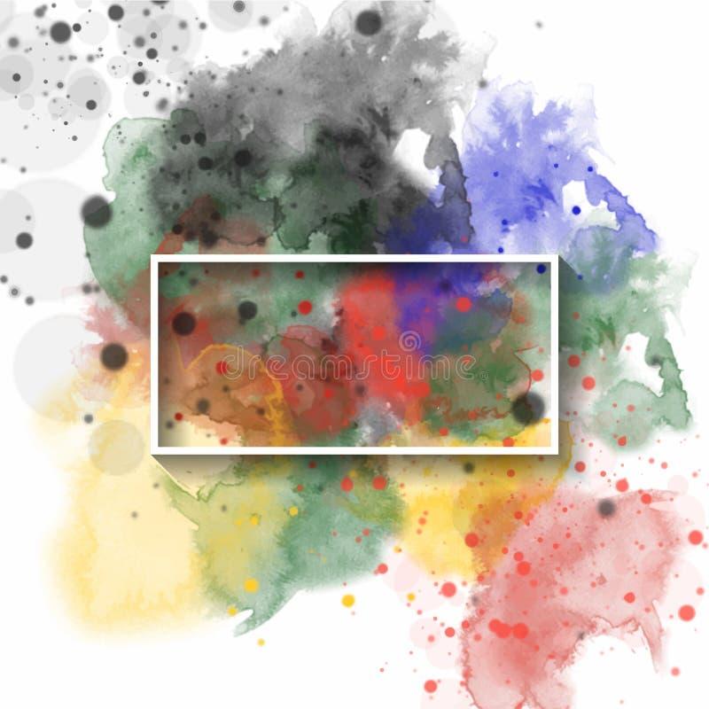 Espirre o fundo da aquarela, usado para a bandeira, o molde, o convite ou a toda a decoração Ilustra??o do vetor ilustração royalty free