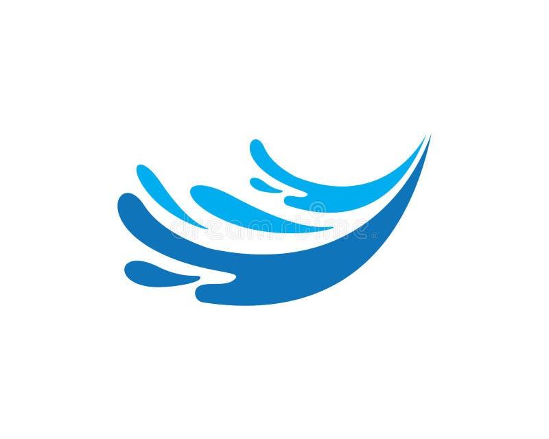 espirre o símbolo da água, da onda e o ícone Logo Template ilustração stock