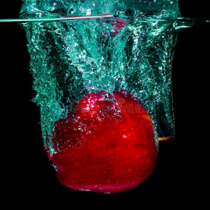 Espirro isolado da maçã fotos de stock