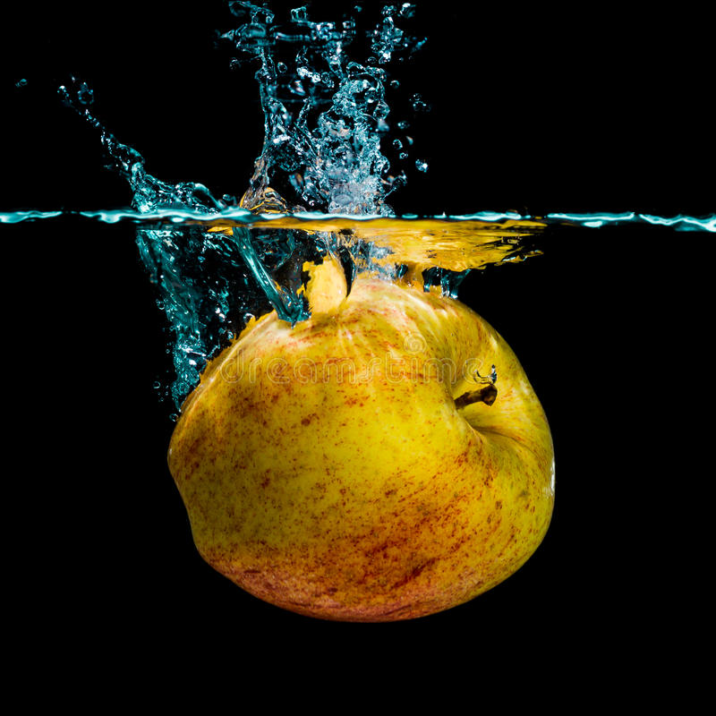 Espirro isolado da maçã foto de stock royalty free