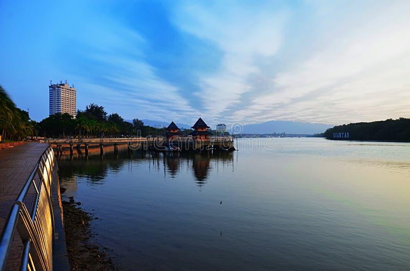Esplanada, Kuantan, Malezja zdjęcia stock