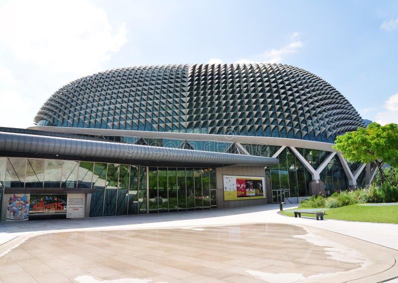 Esplanada - Theatres na zatoce, Singapur fotografia royalty free