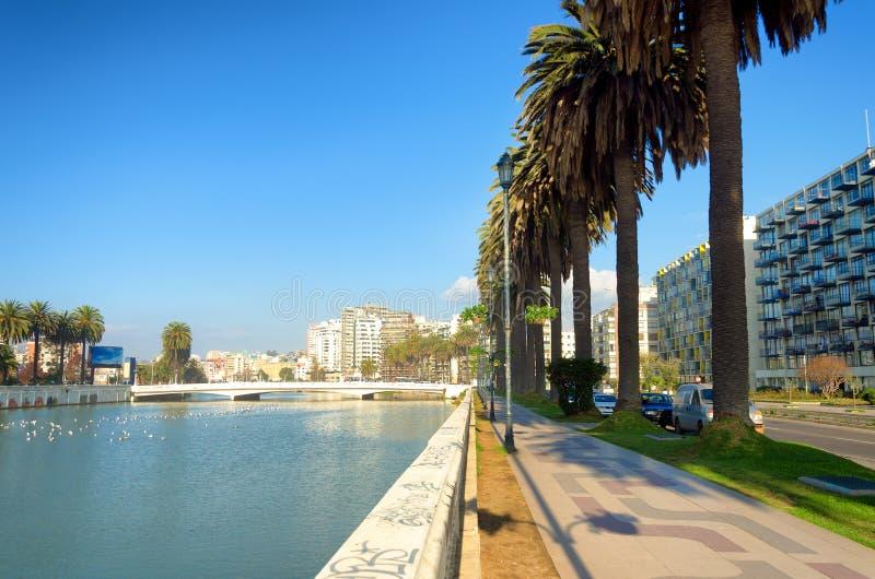Esplanade στη Vina del Mar, Χιλή στοκ φωτογραφία με δικαίωμα ελεύθερης χρήσης