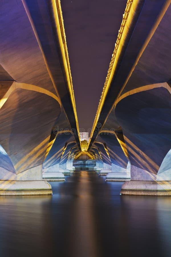 Esplanade-Brücke stockbilder