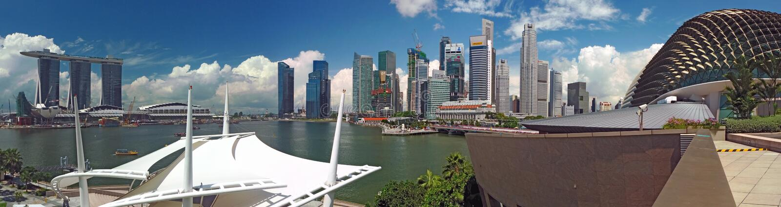 Business District Late Morning Scene Singapore stock photography