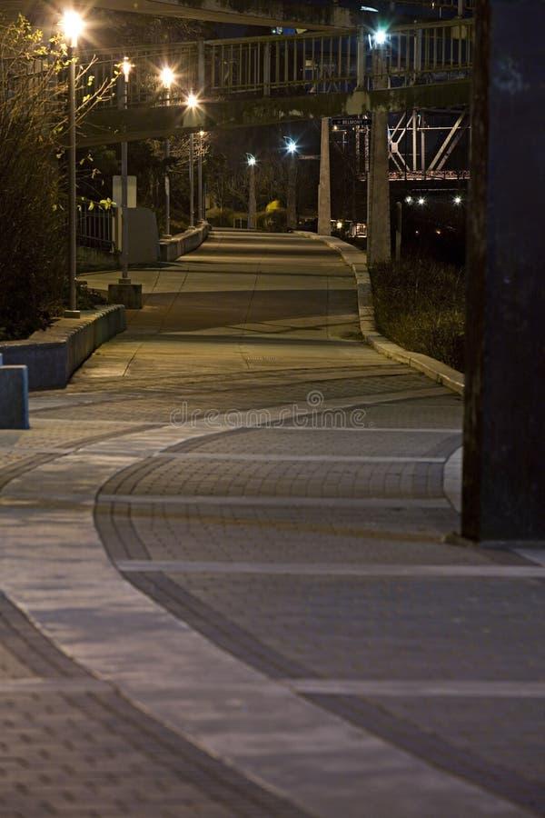 Esplanade de Portland Eastbank photographie stock libre de droits