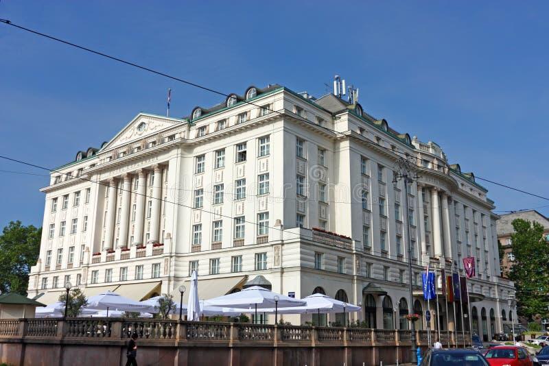 Esplanade dell'hotel, Zagabria fotografie stock libere da diritti