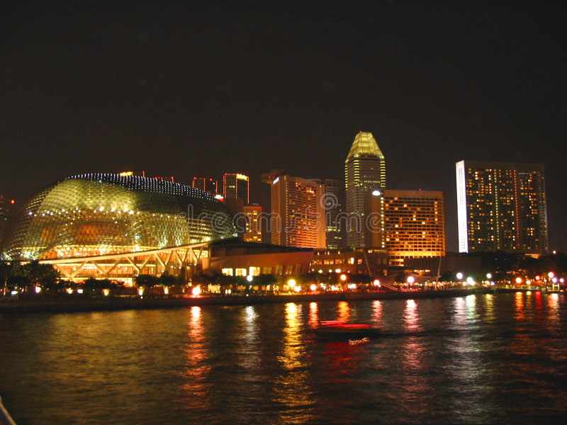 Esplanade At Night Royalty Free Stock Photography