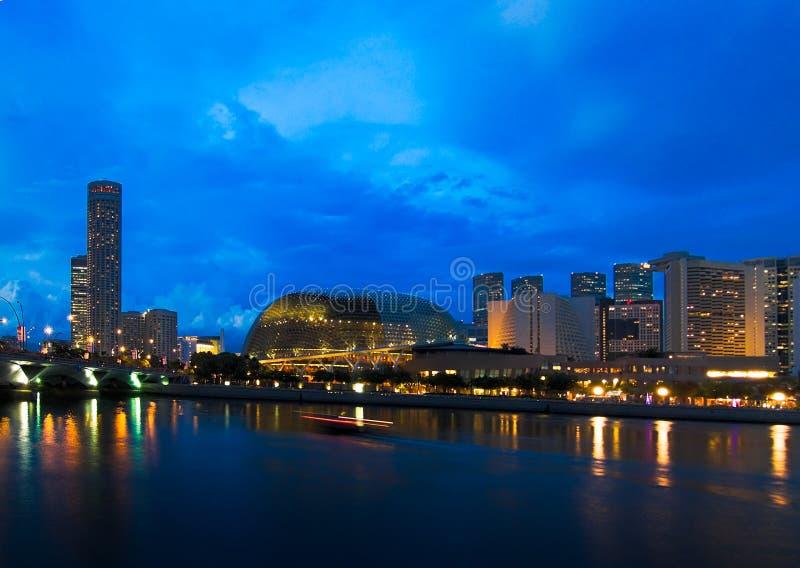 esplanade noc zdjęcie royalty free