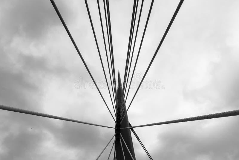 Esplanade Riel Footbridge à Winnipeg photographie stock