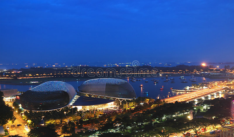 Esplanade Singapur - Auszug lizenzfreie stockbilder