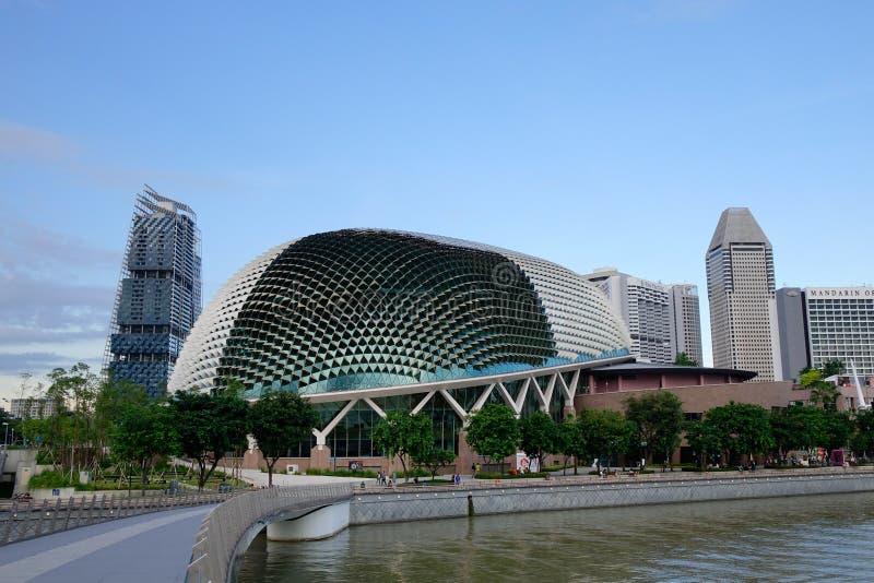 Esplanade - théâtres sur la baie, Singapour image libre de droits
