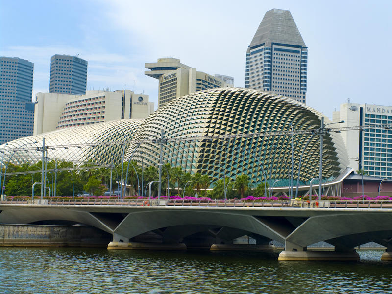 Esplanade Theater in Singapore. stock images
