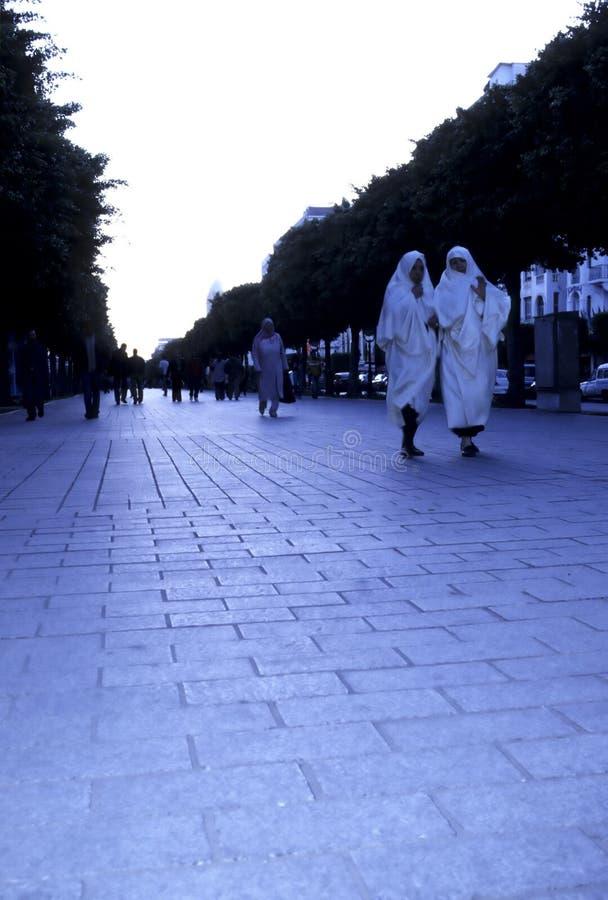Esplanade- Tunis, Tunesien lizenzfreie stockbilder