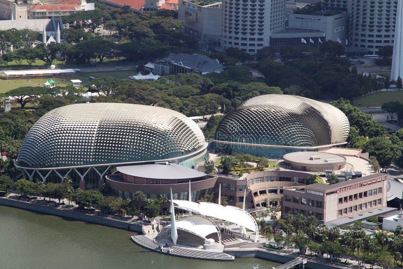 Esplanadetheater, Singapur lizenzfreies stockfoto