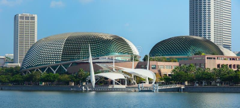 esplanady Singapore theatre fotografia royalty free