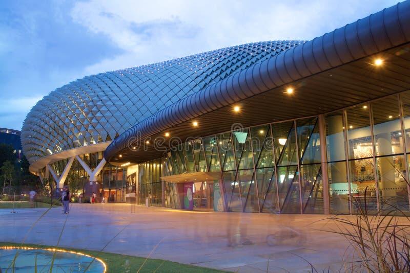 Esplanady Theatre na zatoce w Singapur zdjęcia stock