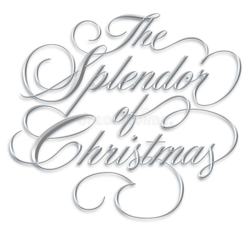 Esplendor de la escritura de la Navidad fotos de archivo