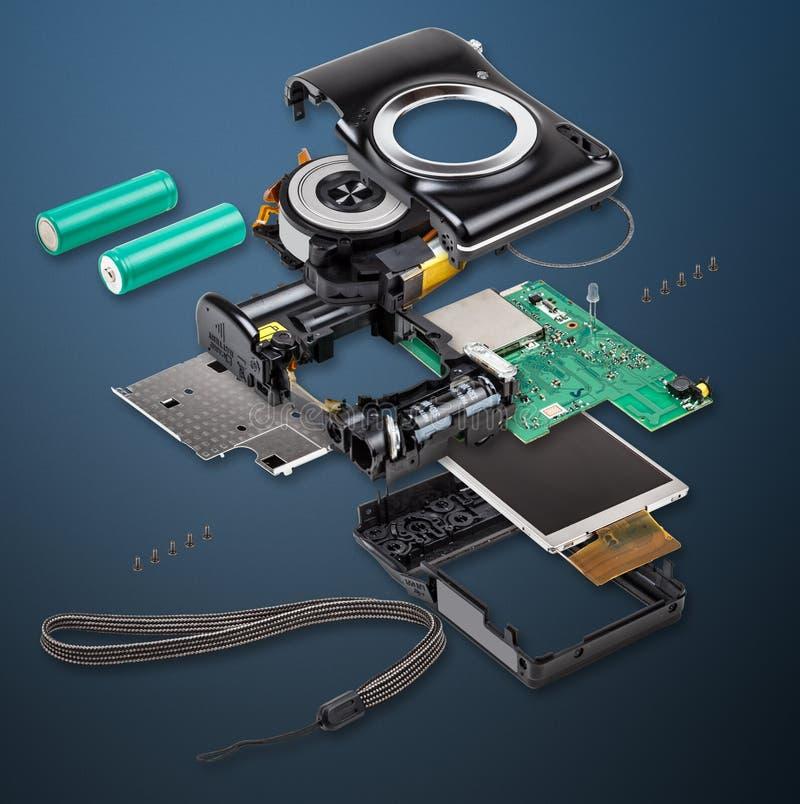 Esploda la vista della macchina fotografica digitale immagini stock