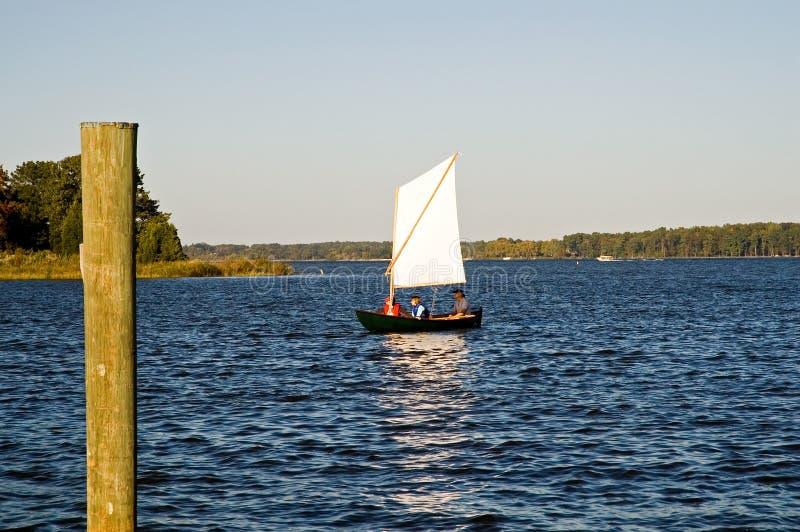 Esplorando sulla baia di Chesapeake fotografia stock