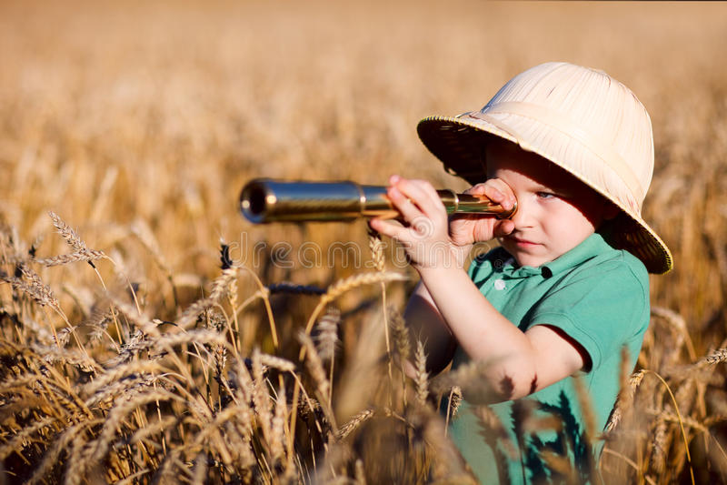 Esploratore della natura fotografia stock libera da diritti