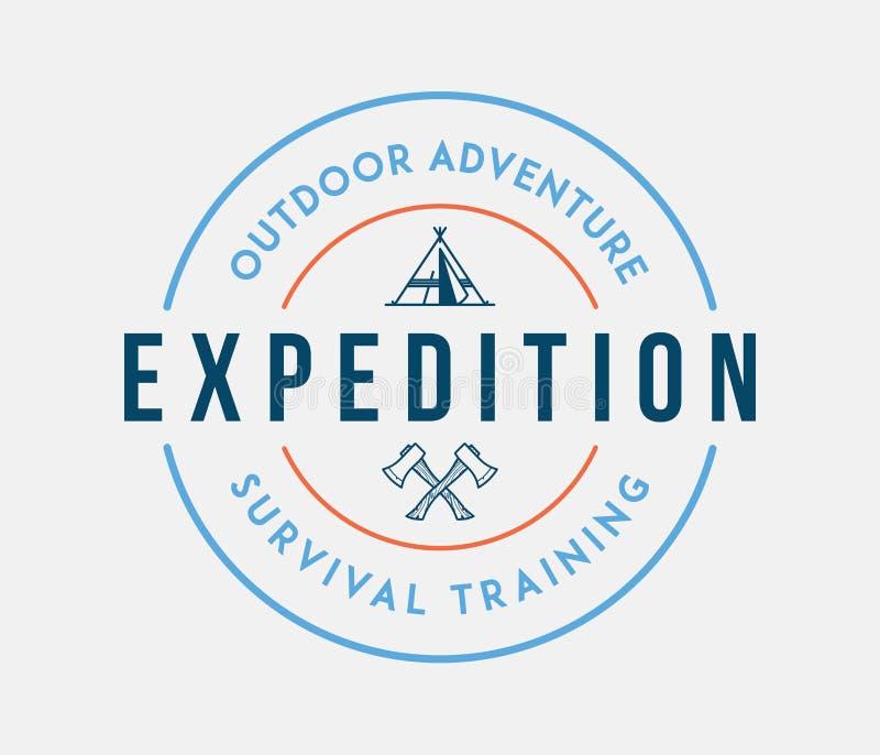 Esplorazione all'aperto di avventura royalty illustrazione gratis