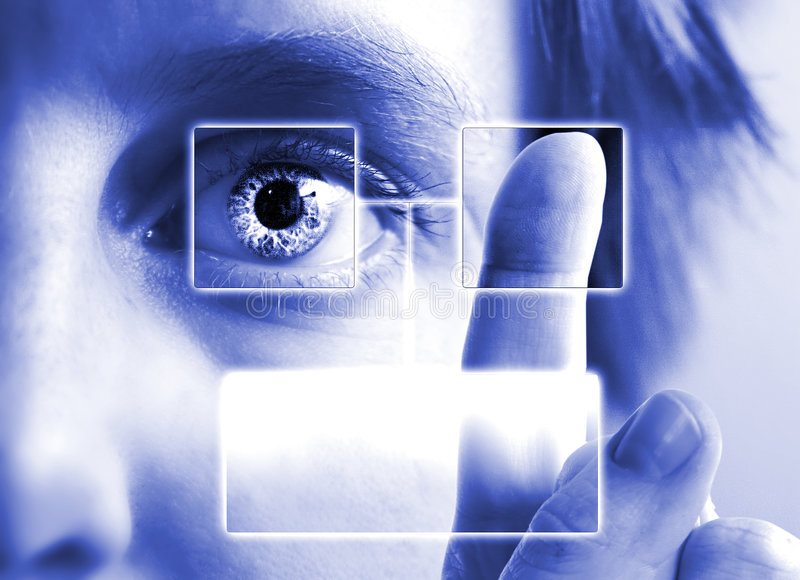 Esplorazione dell'iride dell'impronta digitale royalty illustrazione gratis