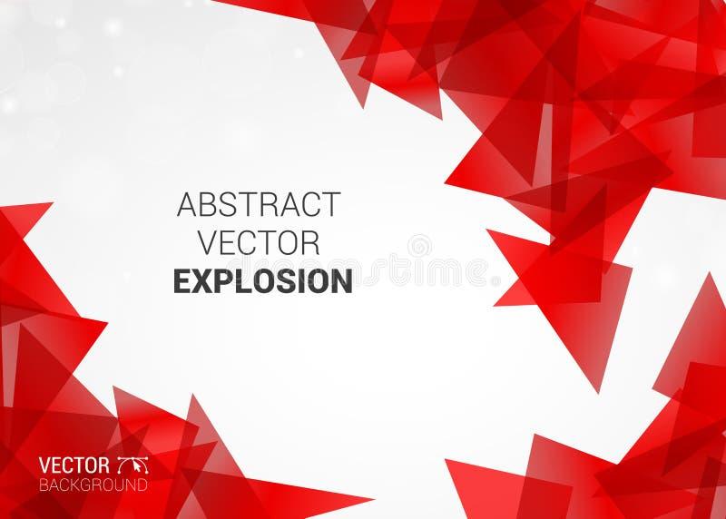 Esplosione astratta del fondo variopinto delle particelle illustrazione vettoriale