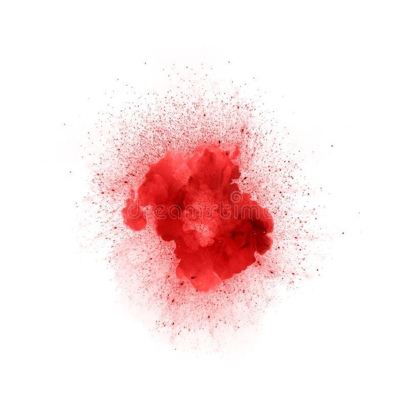 Esplosione astratta del fuoco, colore rosso con le scintille illustrazione vettoriale