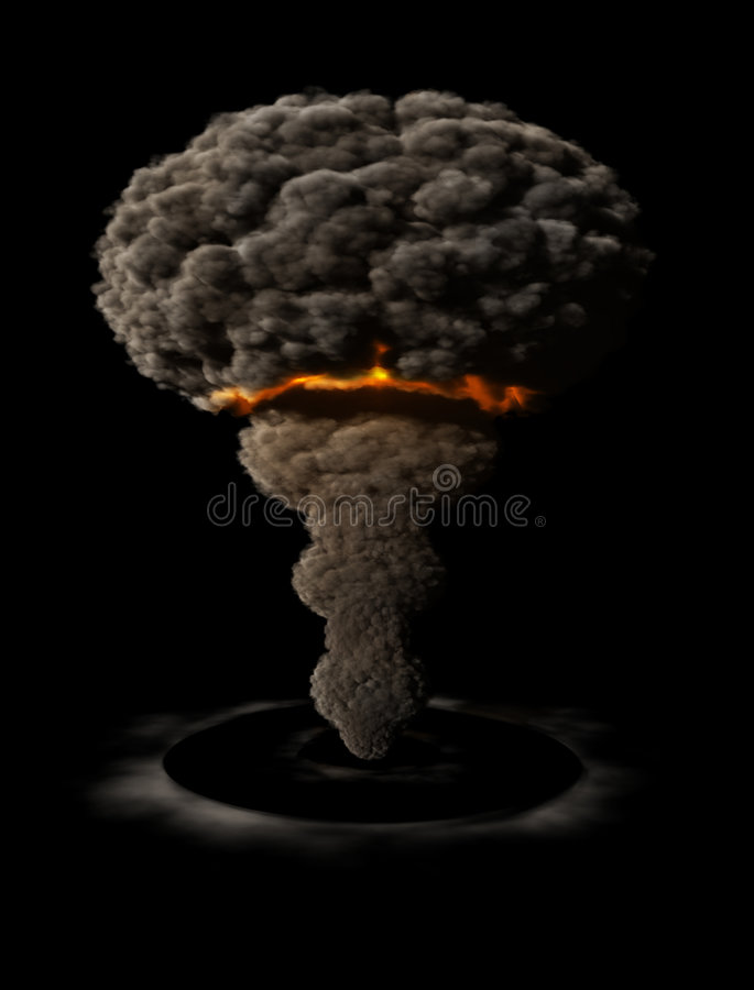 Esplosione atomica illustrazione vettoriale
