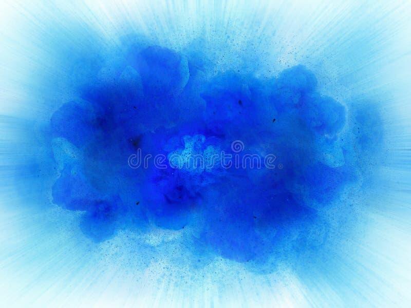 Esplosione blu astratta del fuoco con le scintille royalty illustrazione gratis