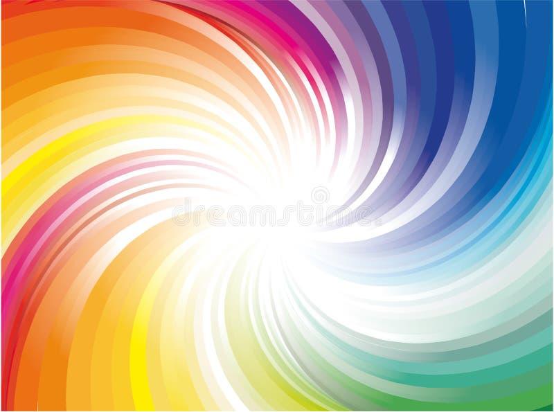 Esplosione degli indicatori luminosi del raggio del Rainbow illustrazione di stock
