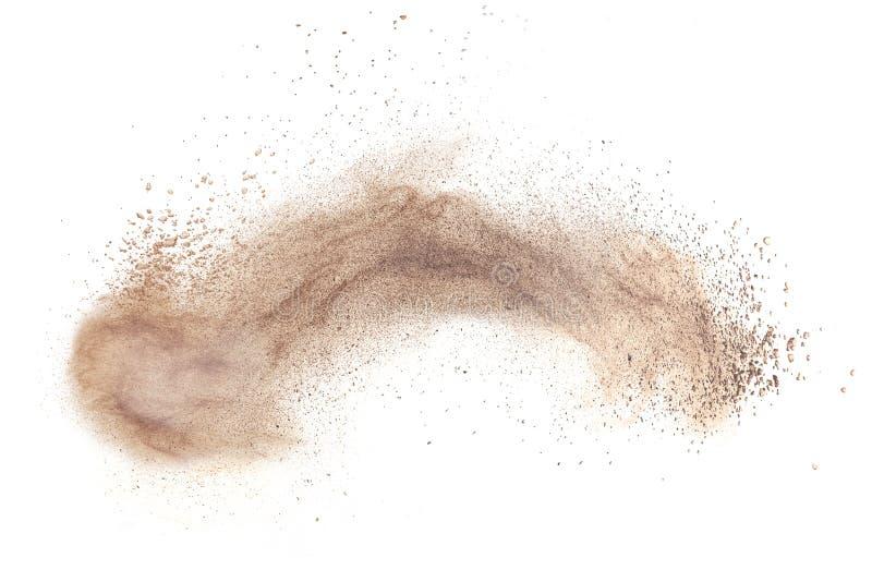 Esplosione del fondamento della polvere isolata su bianco fotografia stock